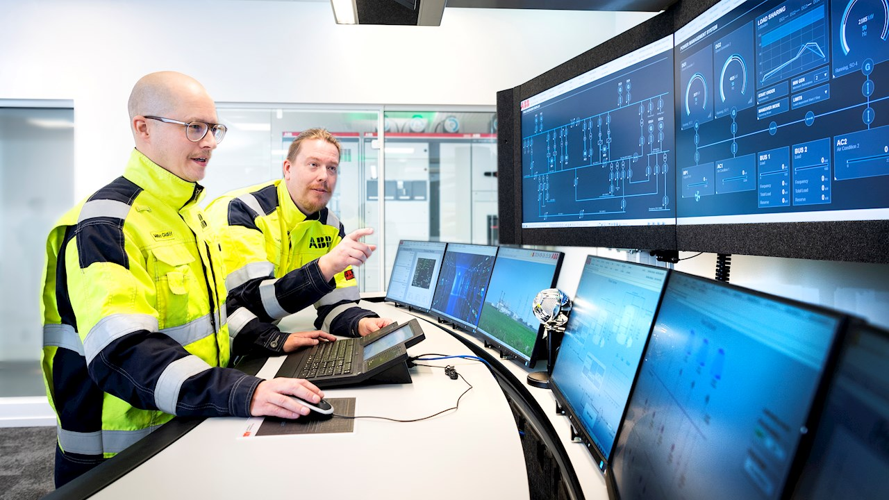 With digitalization and smart connectivity solutions, the threat landscape in the Operational Technology world is always changing. ABB cybersecurity services are designed to minimize cyber risks and provide cyber protection against today's threats. ABB experts are available on demand to help the customer with cybersecurity needs. The photo shows, from left to right, Mattias Karp Gidlöf, Industrial Cyber Expert at ABB in Sweden, and Torbjörn Flybring, Industrial Cyber Expert at ABB in Sweden.