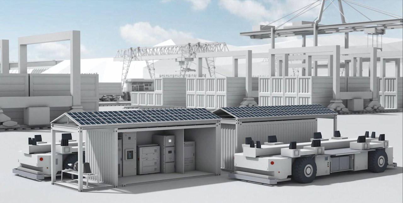 Image 2 - ABB e-mobility solution for PSA container port