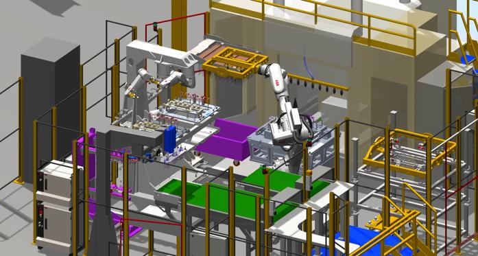Un'immagine della stazione Robotstudio