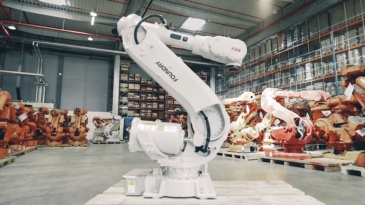 ABB makes manufacturing more  sustainable by recycling and remanufacturing thousands of old robots