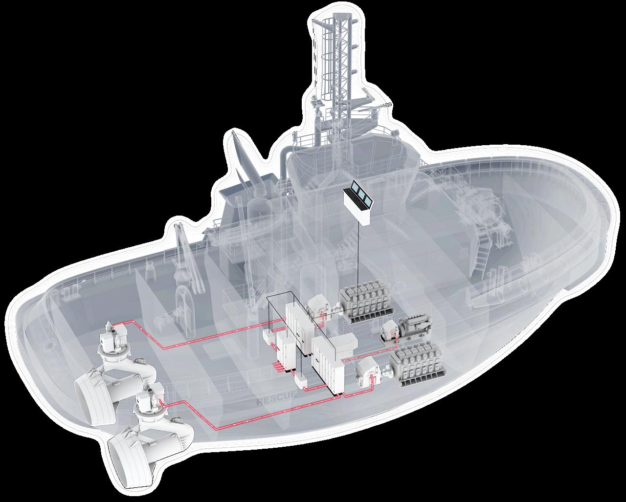 Tugboat illustration. Image credit ABB