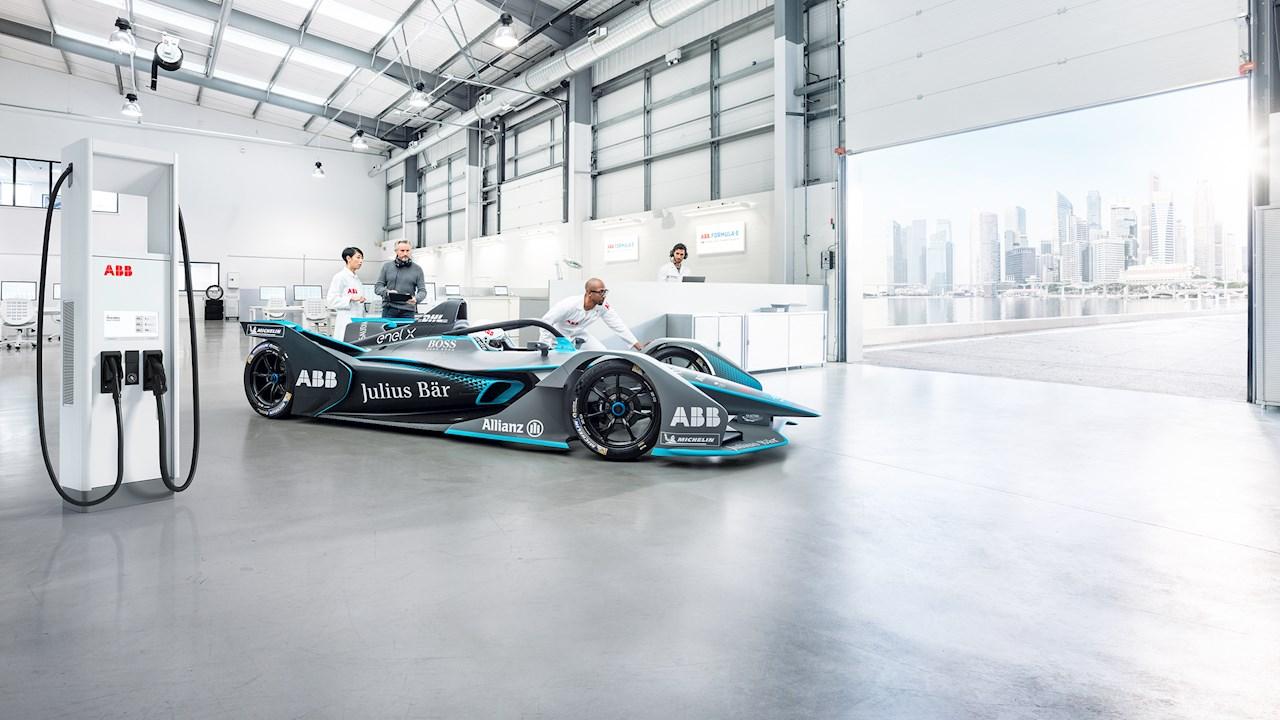 АББ ще доставя технологията за зареждане на болидите от трето поколение, състезаващи се в световния шампионат FIA ABB Formula E