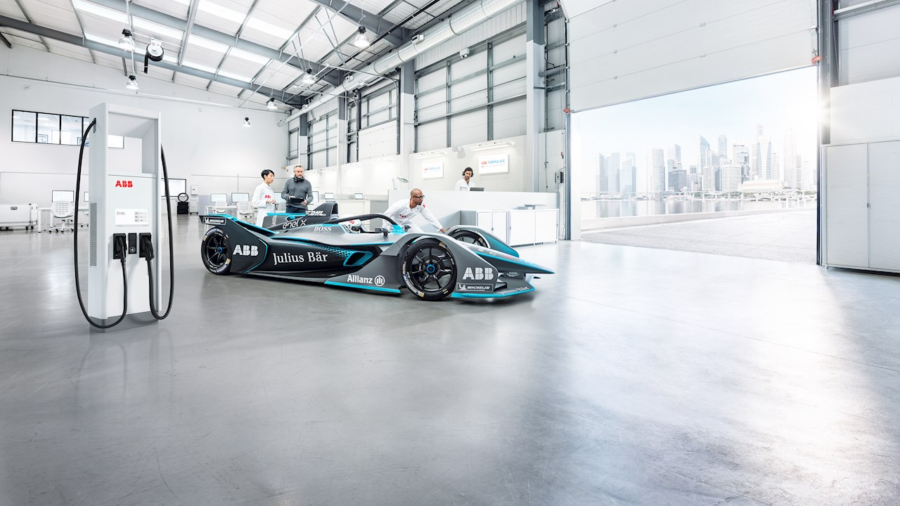ABB liefert Ladetechnologie für Gen3-Rennwagen der ABB FIA FormelE-Weltmeisterschaft