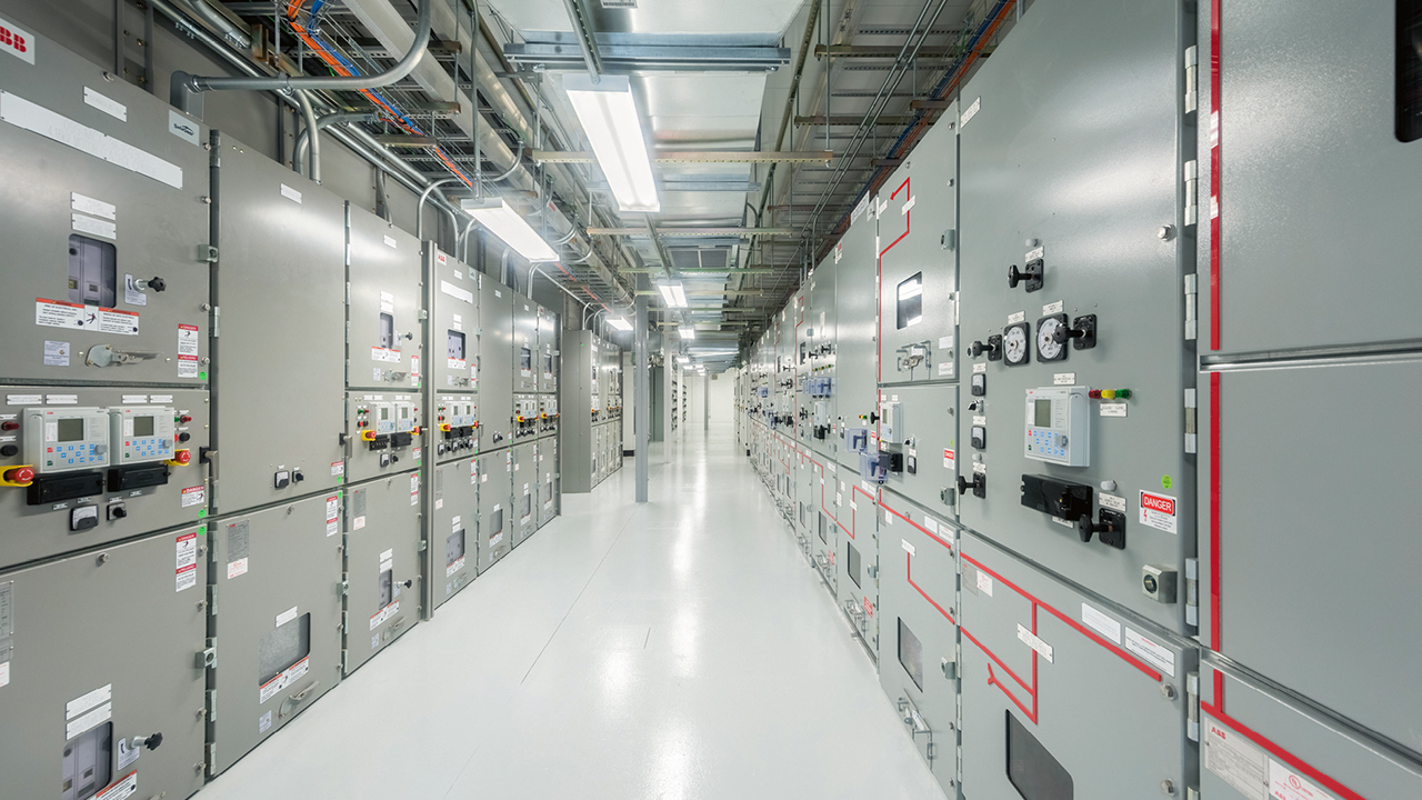 01 Adoption of IEC 61850 for data center power protection and supervision greatly enhances performance and reliability and reduces cost. Shown is medium-voltage switchgear at a data center.