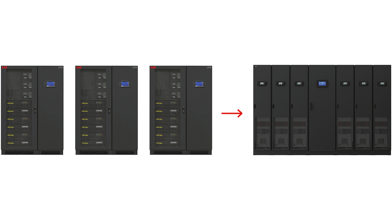 03 Compared to an ABB DPA 500 UPS solution, the Megaflex DPA has a footprint around 45 percent smaller.