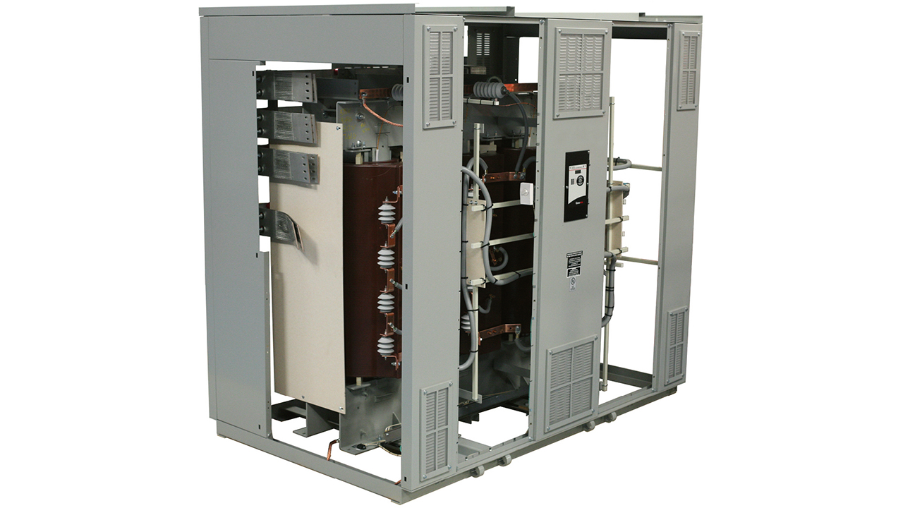 01 TVP for distribution transformers places varistors strategically along the windings of the transformer to limit transient overvoltages from reignitions that may occur inside of the breaker or from any amplified voltages from harmonic resonance inside the transformer.