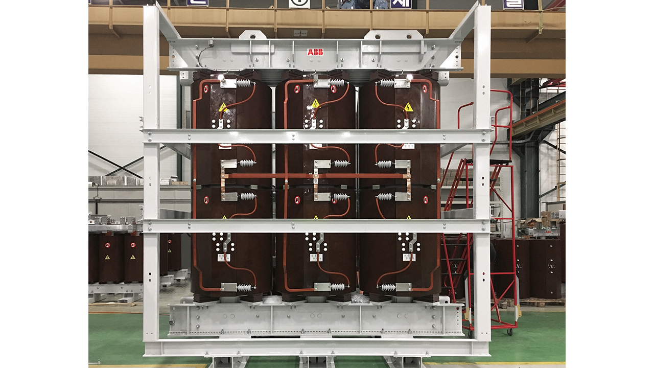 06 TVP installed on a new transformer at an ABB factory.