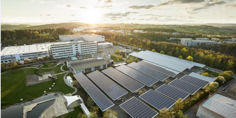 ABBs første CO2-nøytrale produksjonssted i Lüdenscheid.