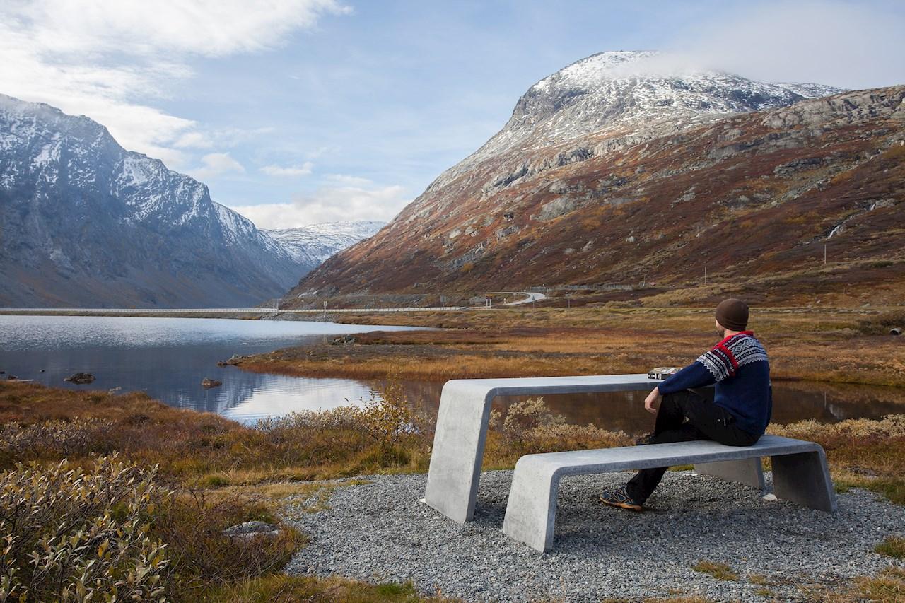 Vestre benches in Strynefjellet, Norway