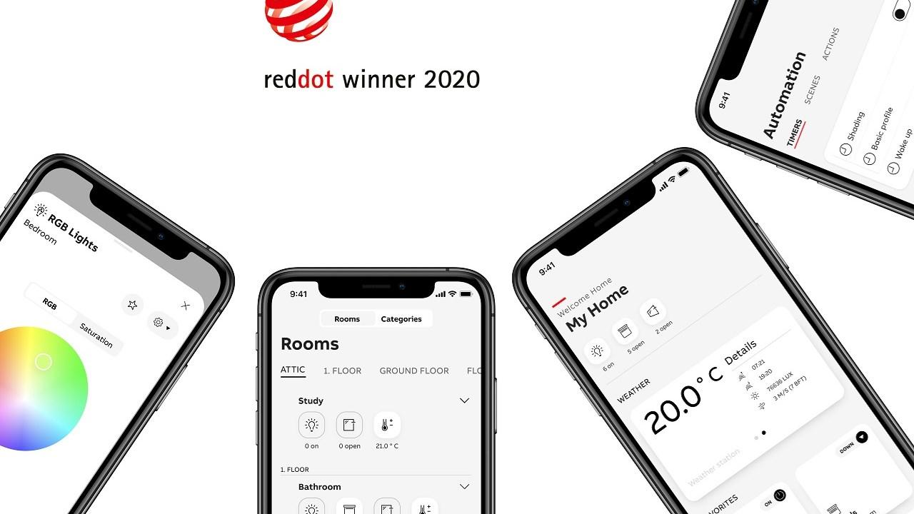 Aplikácia ABB pre inteligentné domy vyhrala prestížne ocenenie Red Dot Design Award