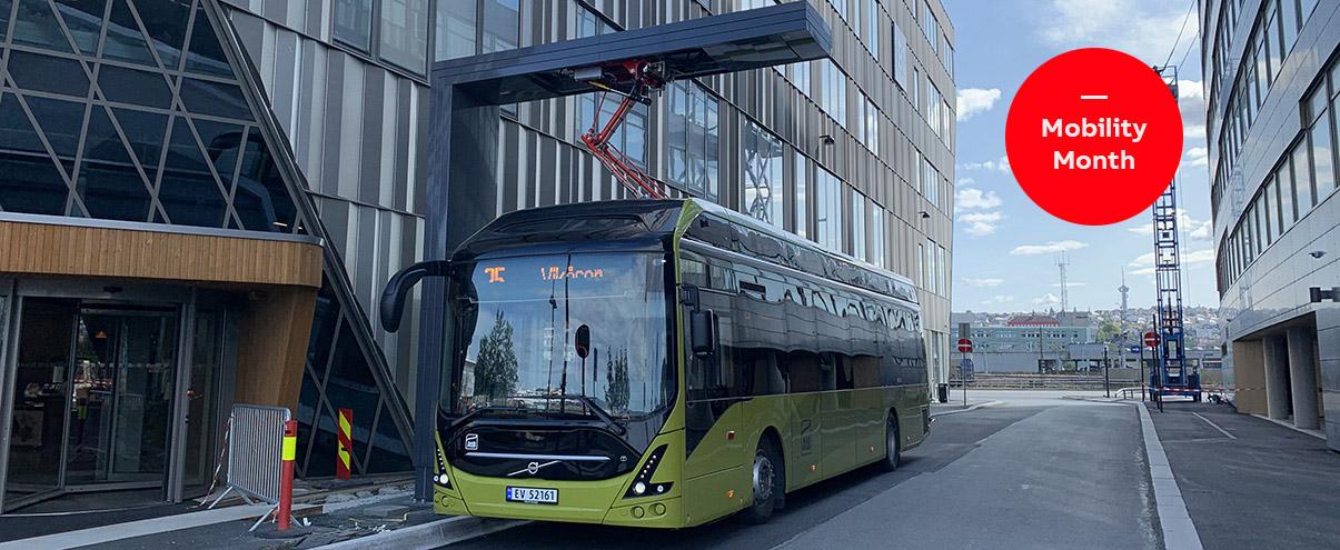 Pantograf-ladere fra ABB skal lade 31 elbusser i Bodø fra sommeren 2021.