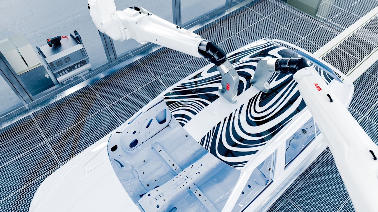 ABB's PixelPaint inkjet technology paints cars 50 per cent faster by eliminating overspray.
