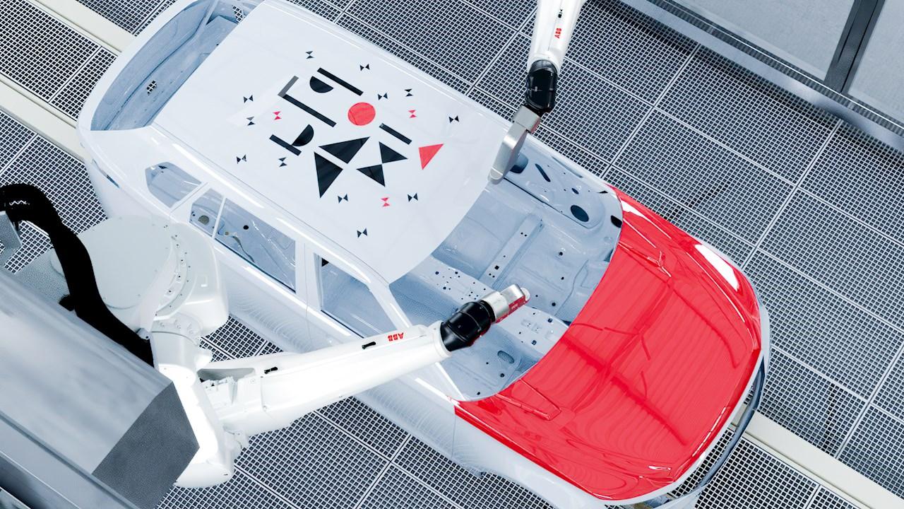ABB desenmascara el futuro de la pintura automotriz personalizada con Pixel Paint