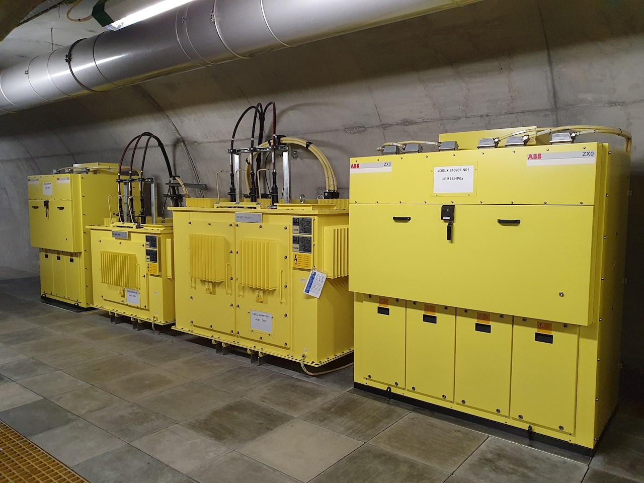 ABB sistemi di alimentazione elettrica nel tunnel di base del Ceneri (© Cablex)