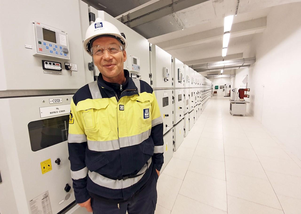 Øyvind Nyhus, General Manager of Herøya Nett / Photo by: Siri Krohn-Fagervoll/Herøya Industripark AS