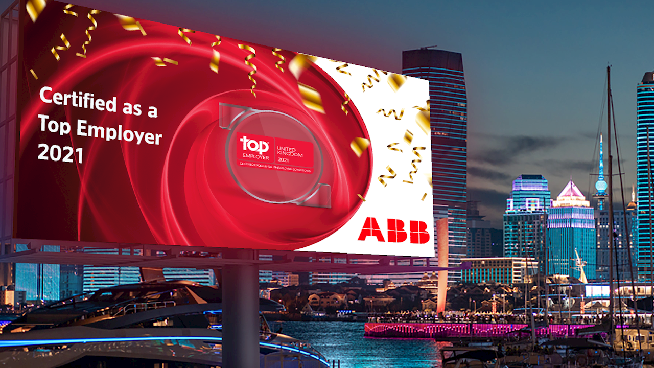 ABB recognised as a Top Employer in the UK