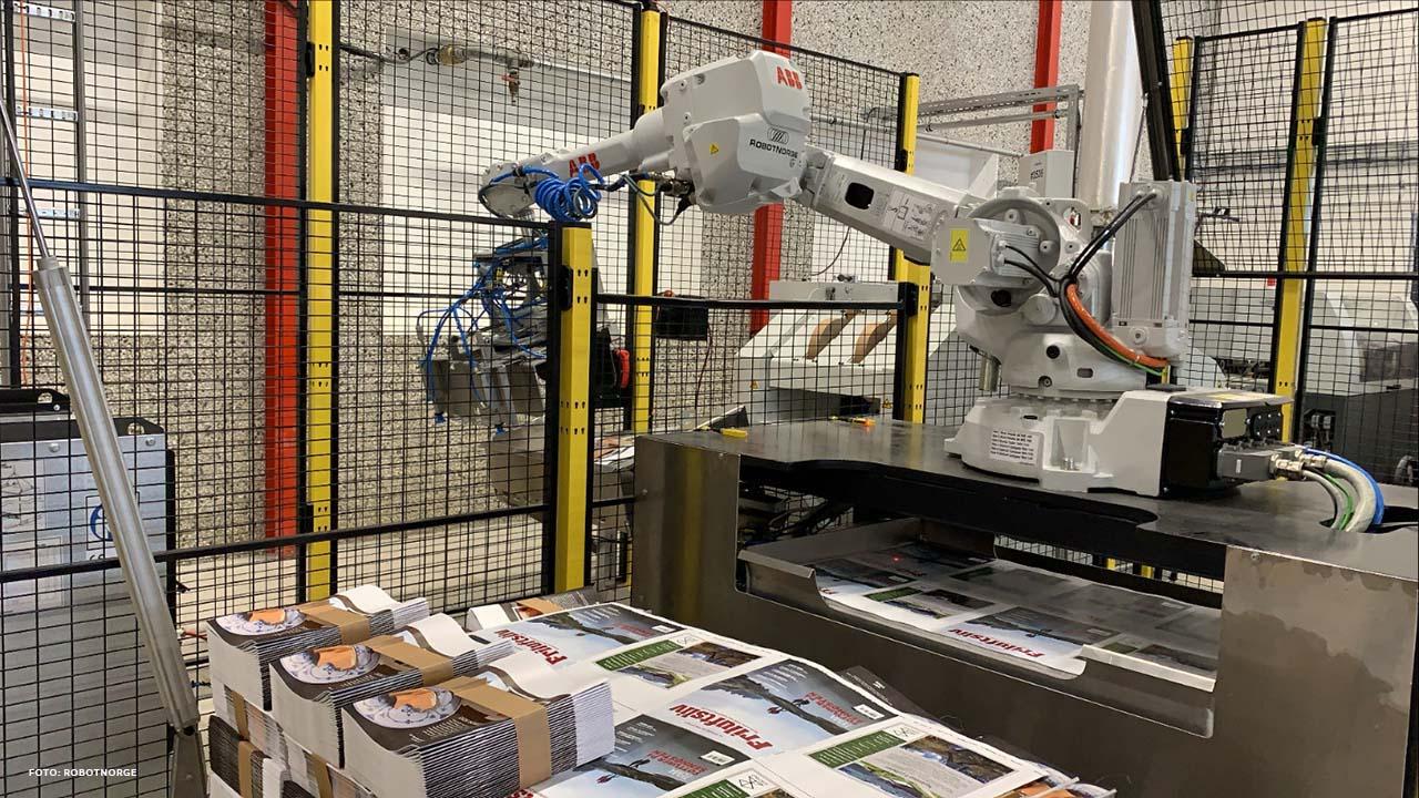 Ålgård Offset effektiviserer og forbedrer arbeidsmiljøet med robotisering (Bilde: RobotNorge).
