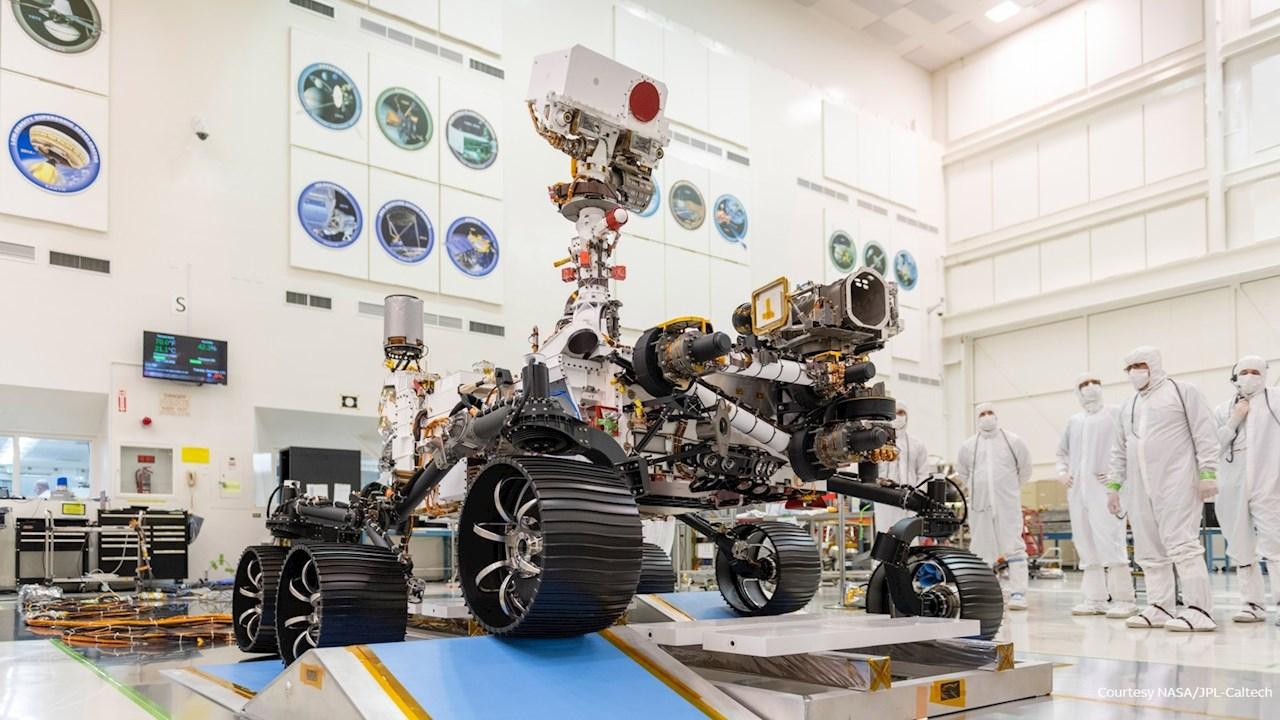 Der Rover der NASA Mars-Mission Perseverance ist mit Ty-Rap™ Kabelbindern von ABB ausgestattet.