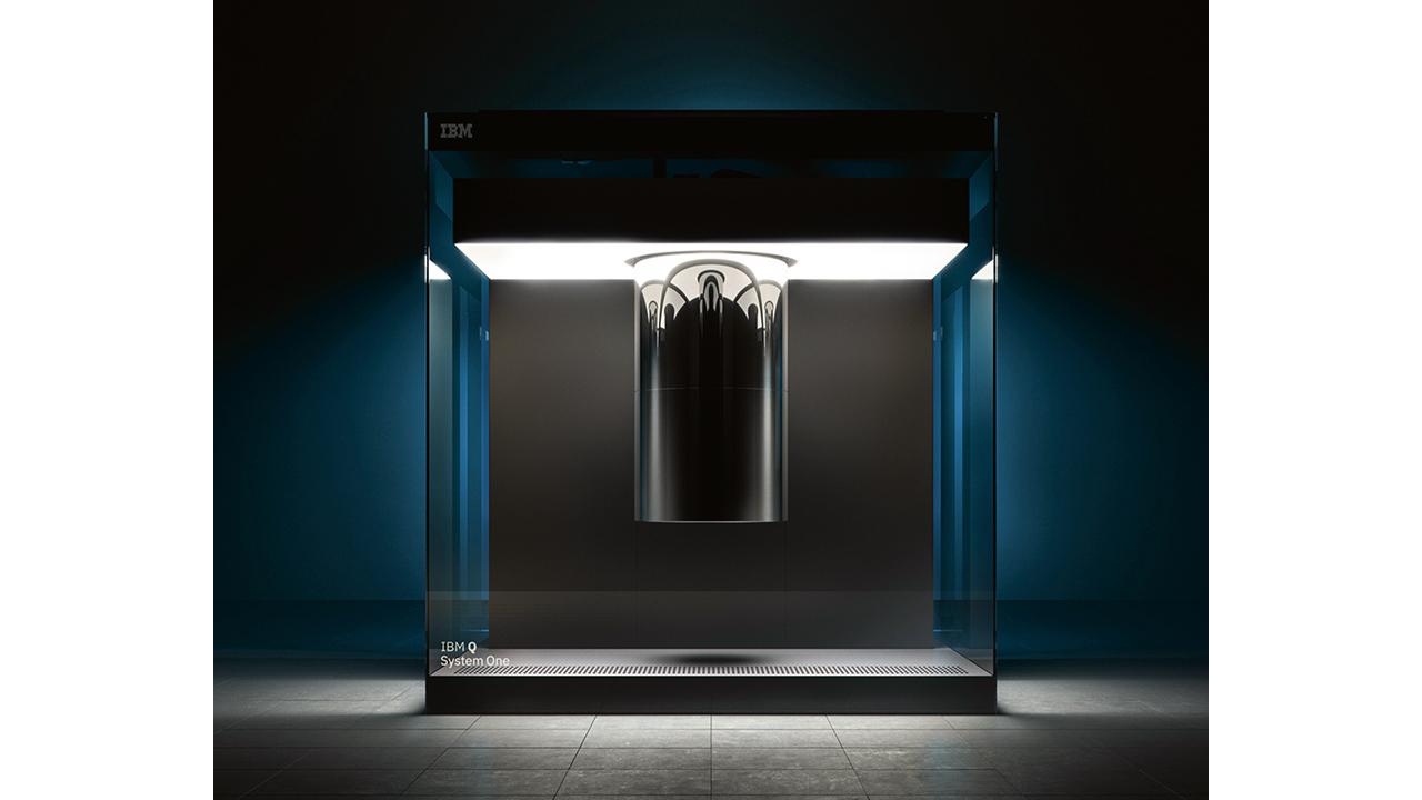 03 IBM Q System One quantum computer.