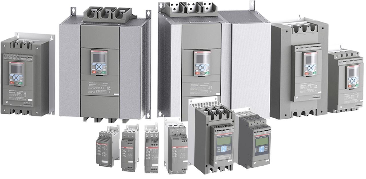 Mykstarterene dekker motorer med spenning mellom 208 og 690V, fra de aller minste og helt opp til 2,1 MW.