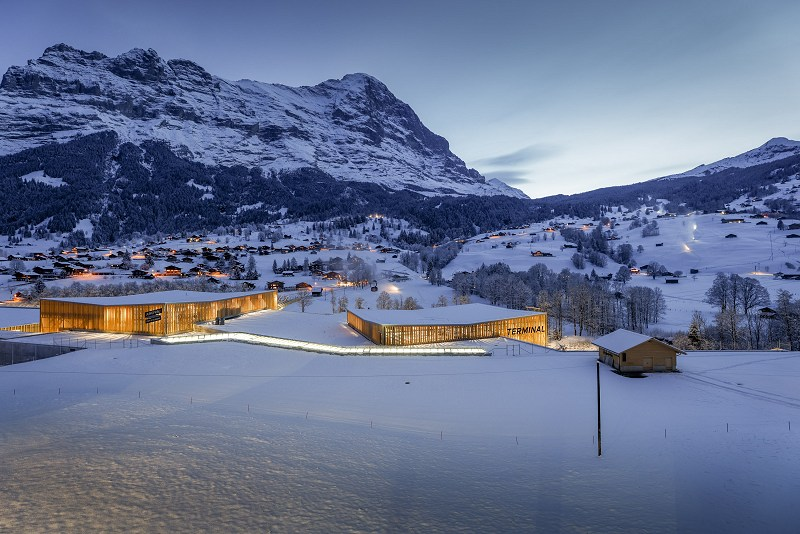 Grindelwald Terminal, the starting point of both railways of the V-Bahn. (© Jungfrau Railways)