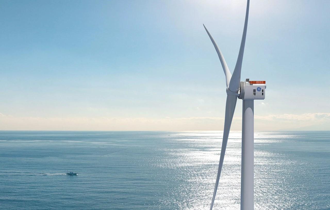 Wind offshore Haliade - X turbine. (Imágen: Cortesia de GE)