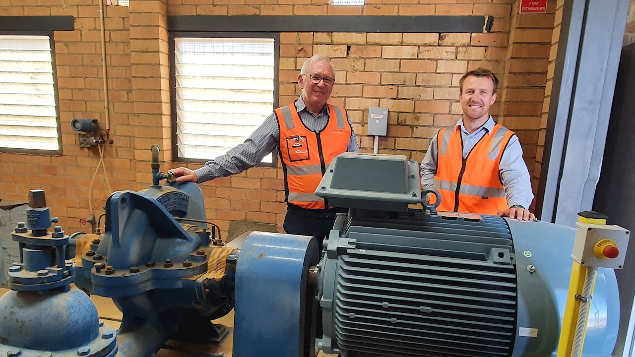 ABB's drive and motor package gives AlburyCity Council water plant an energy efficiency upgrade and eliminates residential disturbances