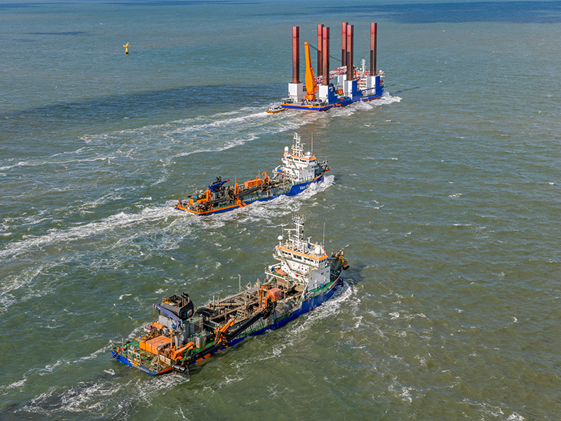 ABB Turbocharging will provide maintenance support and optimisation across Van Oord's dredger fleet