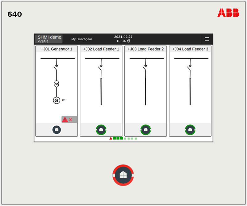 REX640 switchgear human-machine interface (SHMI)