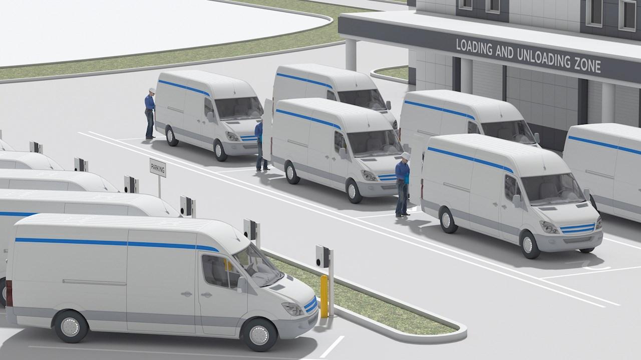 ABB und Amazon Web Services steuern Fahrzeugflotten in vollelektrische Zukunft