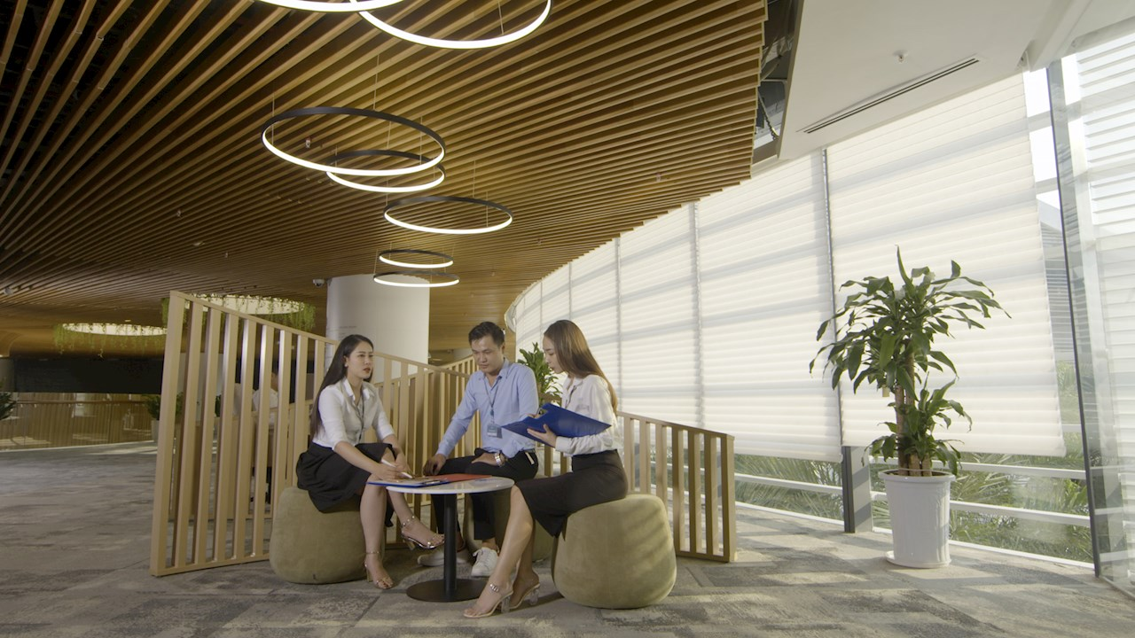 ABB solutions help create  a comfortable environment in the building.