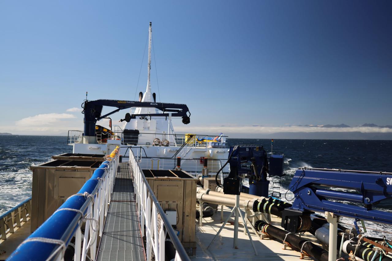 Patagonia Wellboat's Patagón IX usa motores de propulsão e inversores de frequência da ABB, juntamente com um PMS (Power Management System), que gerencia o uso de energia de forma eficiente.
