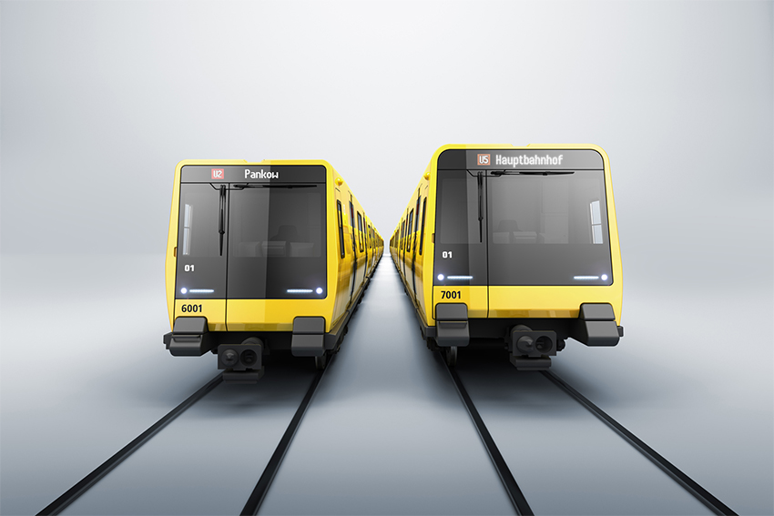 ABB will deliver traction converters for installation in new underground cars in Berlin. Image credit: Stadler