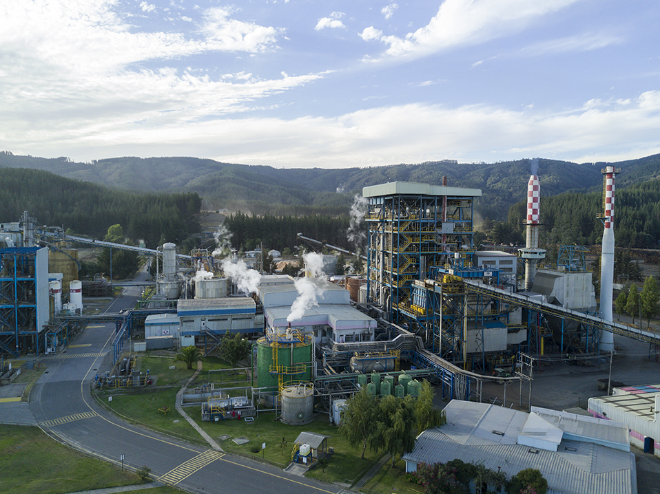 Завод по производству целлюлозы Arauco Licancel.