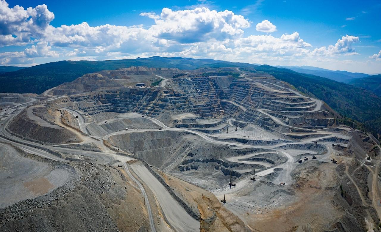 Panorama do site Copper Mountain, próximo de Princeton, em British Columbia, no Canadá