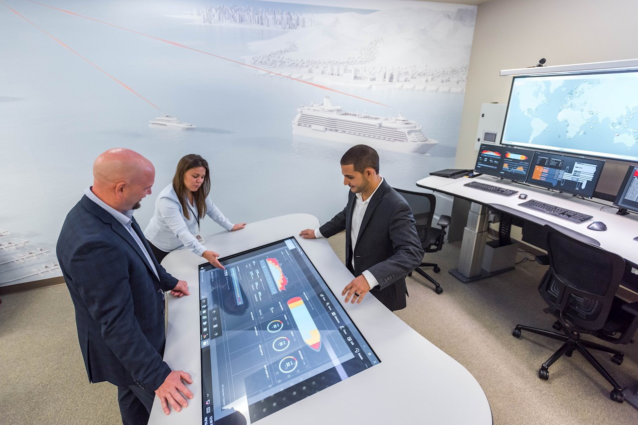 Cruise ships equipped with Azipod® system can connect to the digital ABB Ability™ Collaborative Operations Centers for predictive maintenance and remote technical support.