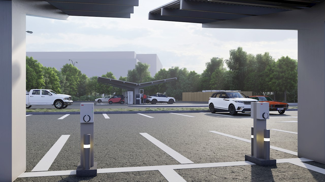 ABB technology to power largest EV charging sites in North England