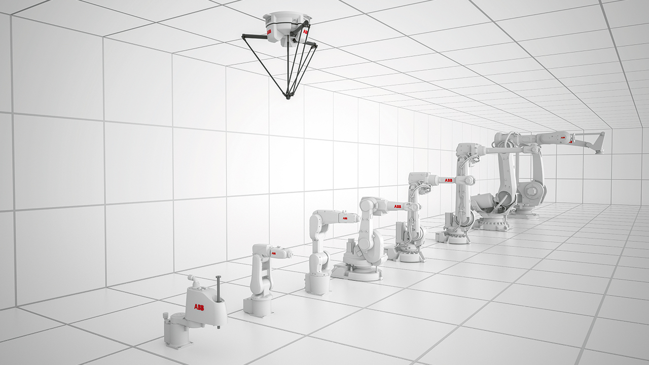 03 B&R customers can choose from an array of articulated arm, SCARA, delta, and palletizer robots in various sizes and payloads.