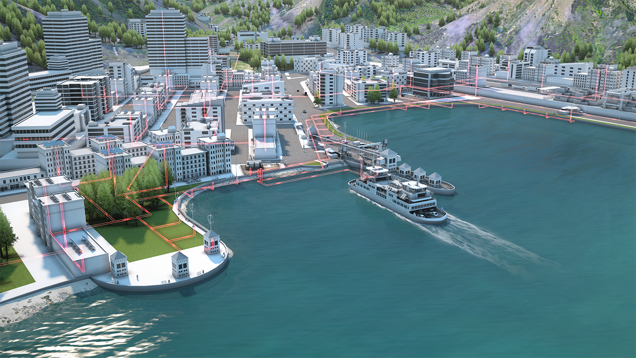 Shore Connection system can charge ship batteries enabling fully-electric operations.