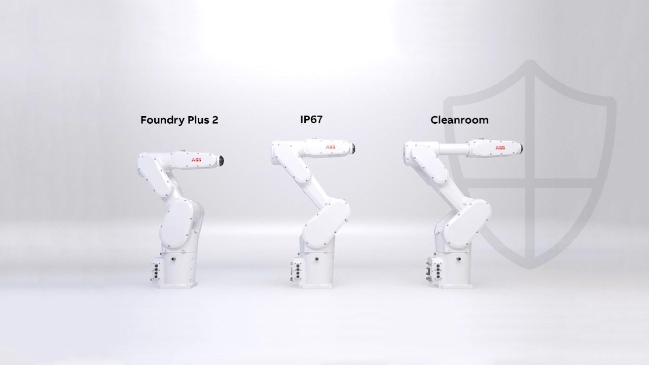 Žiadne vniknutie prachu ani kvapaliny. Robot IRB 1300 prichádza s novými ochrannými prvkami.