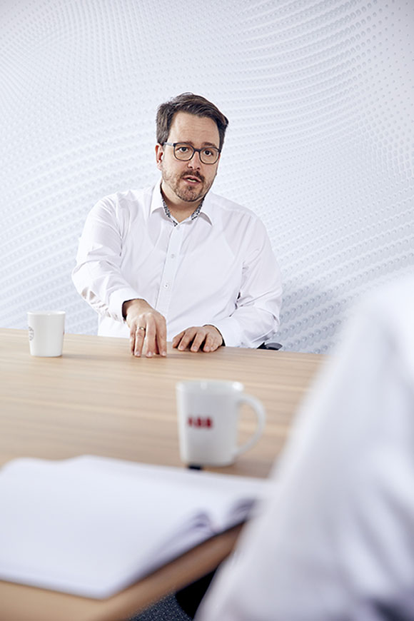 Andreas Schader, Global Marketing Manager Standardization at ABB Motion Germany. Image by Axel Heiter Fotodesign.