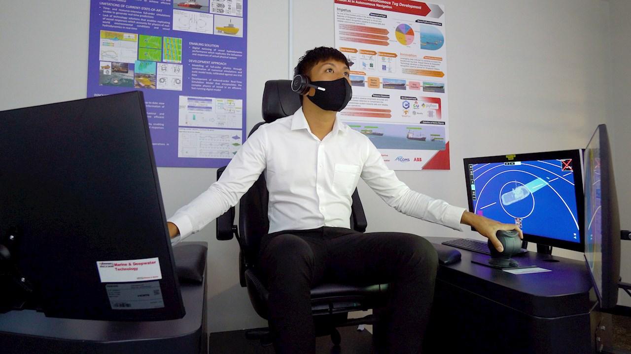 Sør-Asias første fjernstyrte joystick-kontroll av en slepebåt