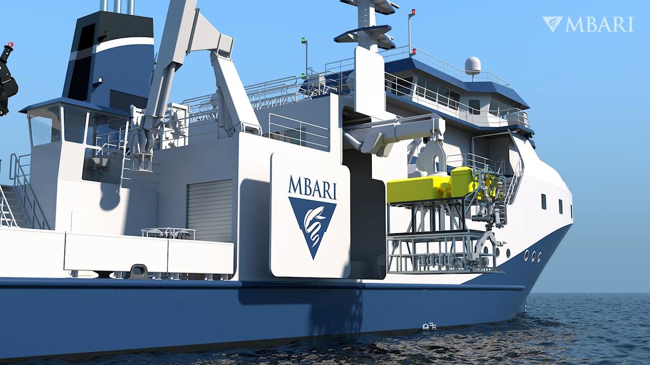 ABB fremtidssikrer bæredygtig drift af havforskningsfartøj i Californien (Foto Glosten © 2021 MBARI).