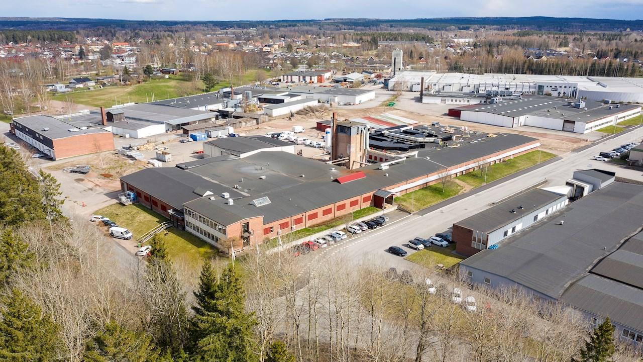 A régi gyárépület, amelyben ma nagyüzemi, teljesen automatizált, beltéri salátatermesztést folytatnak.
