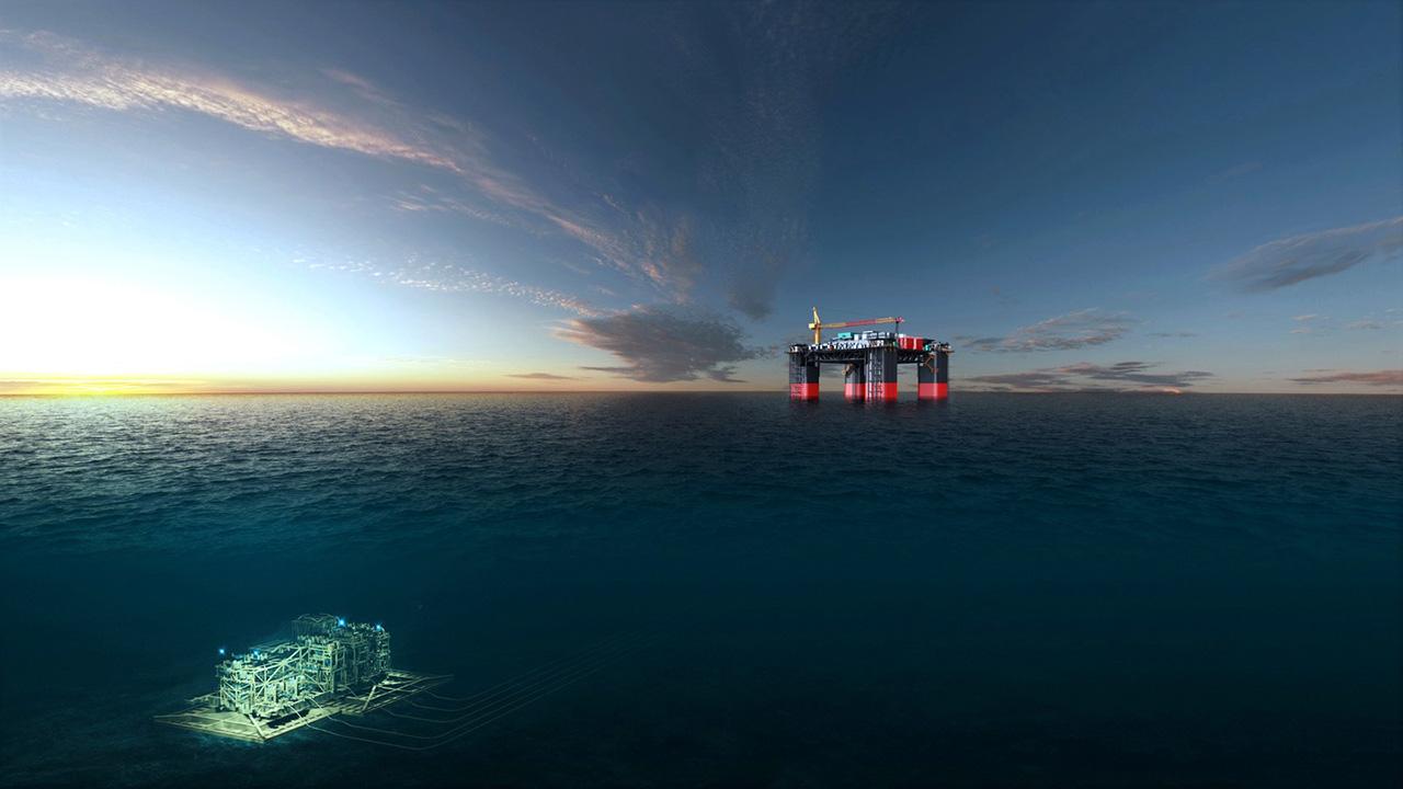 Ved å bruke verdensledende havbunnskompresjonsteknologi, er Jansz-Io Compression posisjonert til å opprettholde langsiktig naturgassforsyning til Gorgon. Det Chevron-opererte Gorgon-prosjektet er et joint venture mellom de australske datterselskapene Chevron (47,333 prosent), ExxonMobil (25 prosent), Shell (25 prosent), Osaka Gas (1,25 prosent), Tokyo Gas (1 prosent) og JERA (0,417) prosent).  Illustration credit: Aker Solutions