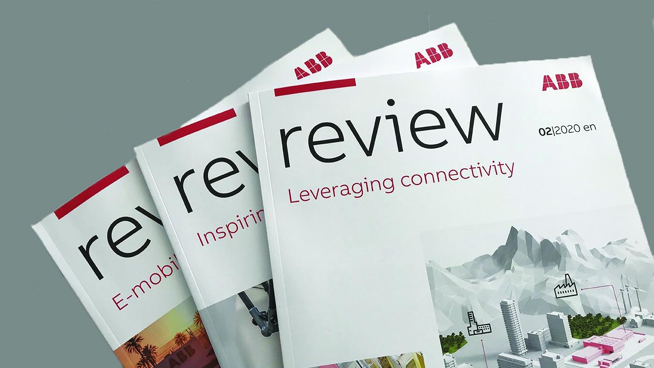 Το ABB Review εκδίδεται συνεχώς από το 1914 και, όπως εξηγεί ο αρχισυντάκτης Andy Moglestue, παραμένει μια ενσάρκωση της τεχνολογίας και των αξιών της ABB