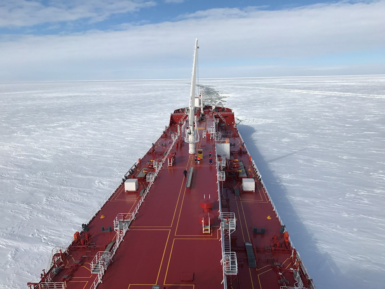 Christophe de Margerie, the world's first icebreaking LNG carrier operated by Sovcomflot