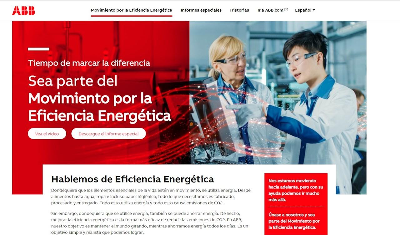 Imagen de la nueva web del Movimiento de Eficiencia Energética en español.