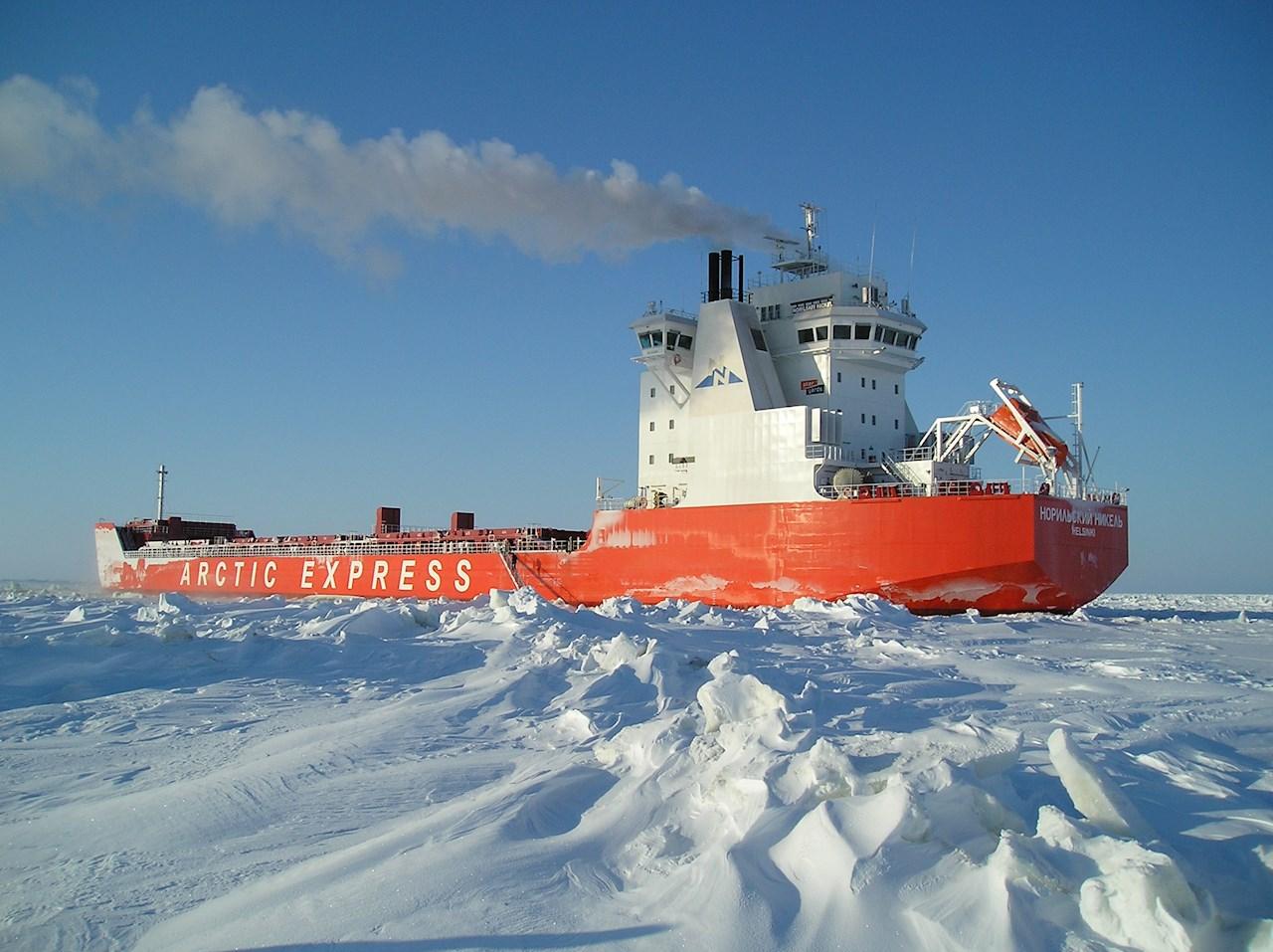 Norilsk Nickel icebreaking ship powered by Azipod® propulsion