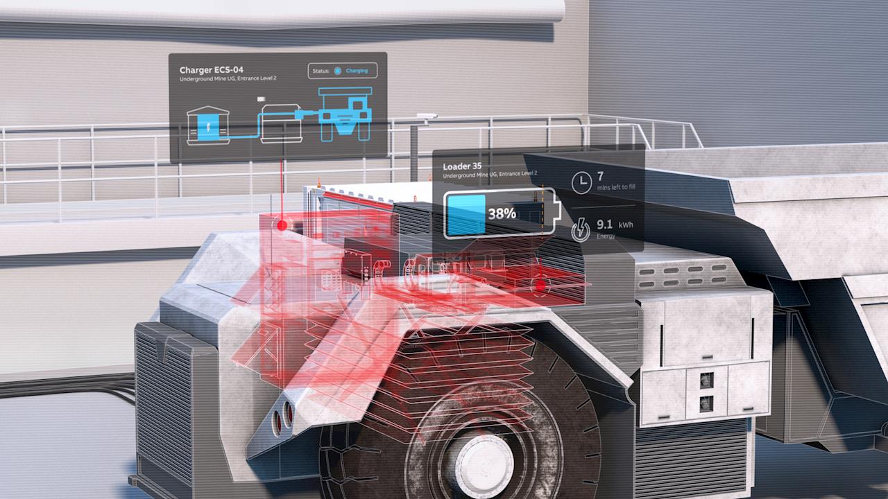 Le nouveau système ABB Ability™ eMine FastCharge fournit une recharge électrique de grande puissance pour les camions de transport et fait actuellement l'objet d'un projet pilote.